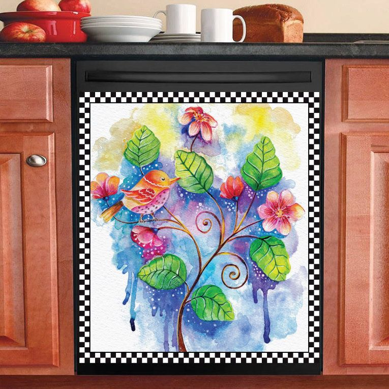 Pin On Dishwasher Magnets Flowers Plants Shabby Chic