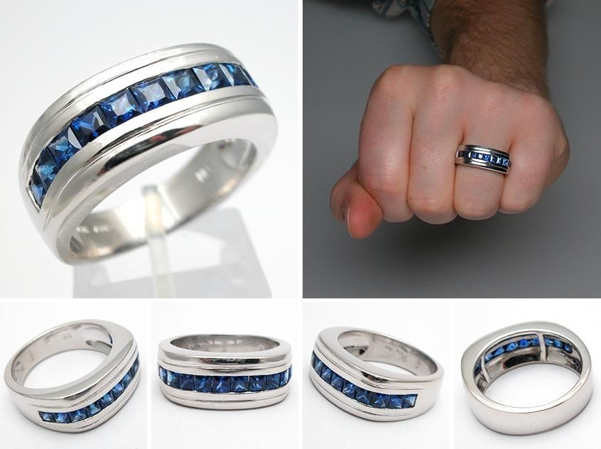 men 39 s sapphire wedding bands natural blue sapphire mens. Black Bedroom Furniture Sets. Home Design Ideas