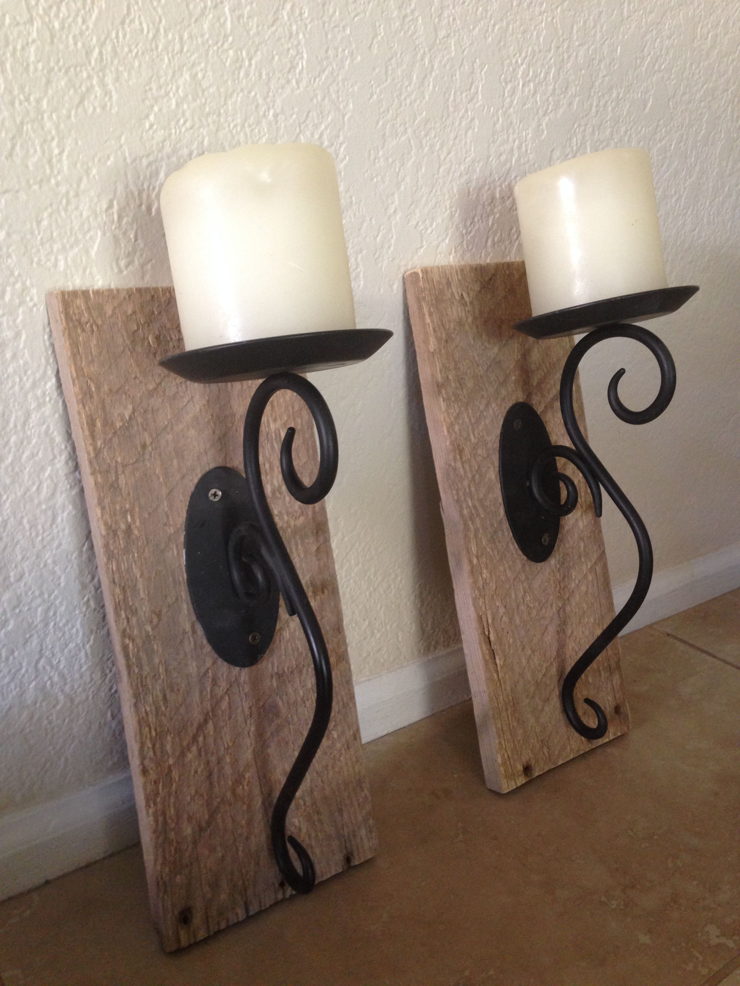 metal wall sconce holder oakly itm candle and laurel kate ebay wood