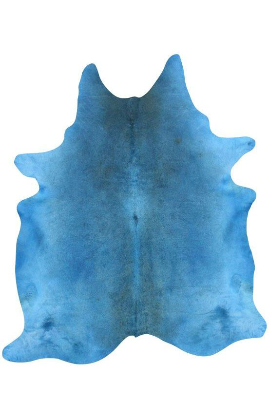 Rugs Usa Natural Solid Cowhide Blue Rug 100 Cow Hide Hand Made