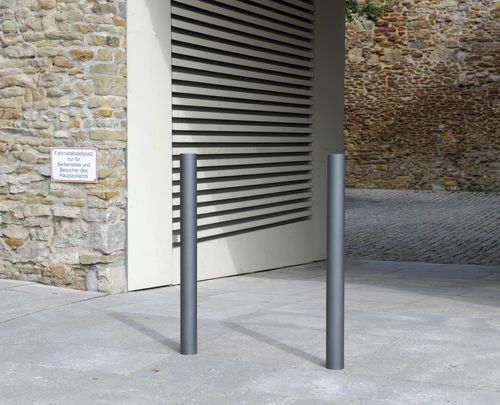 Security bollard / stainless steel / for public spaces C200 BENKERT ...