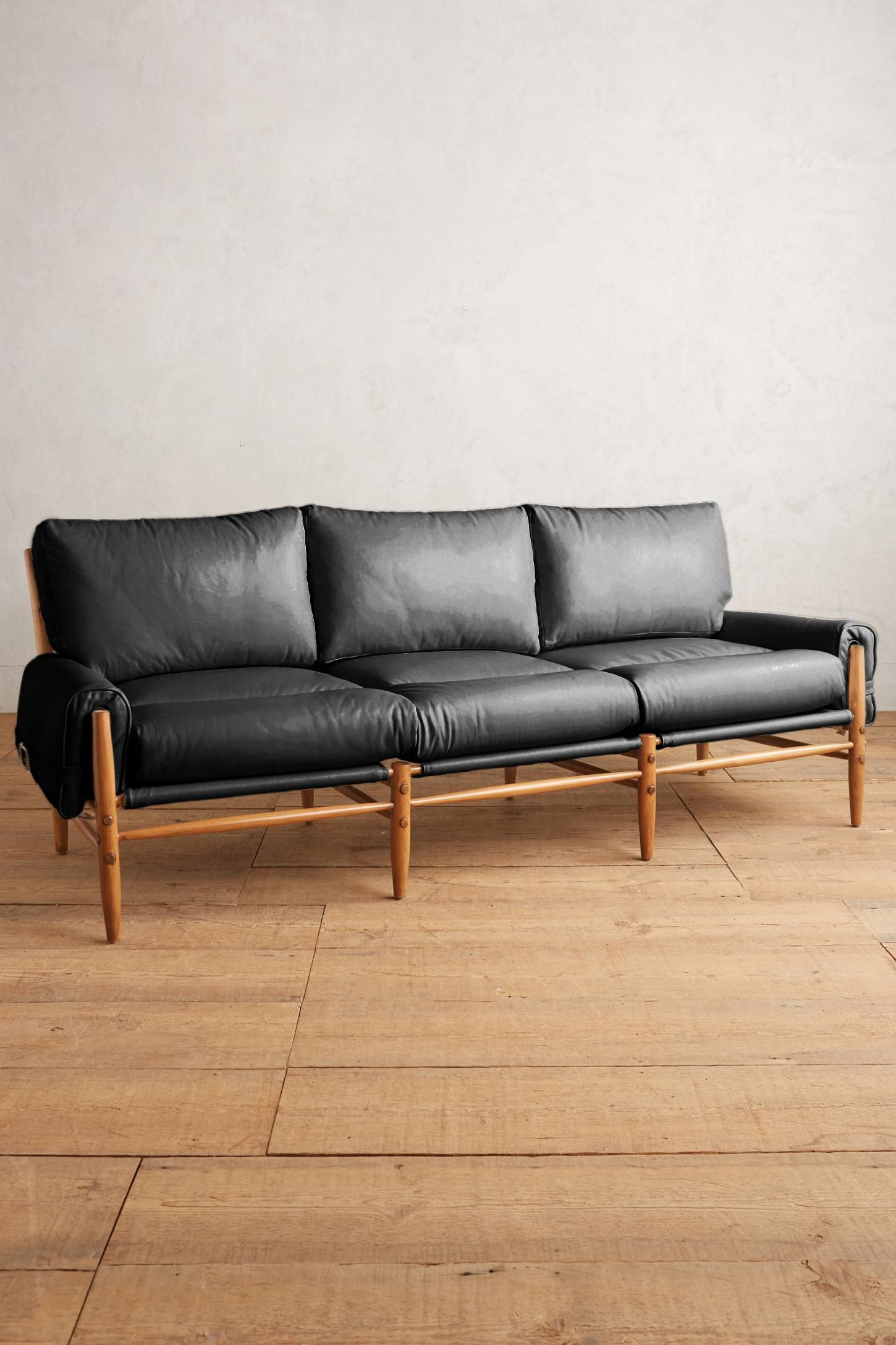 shop the premium leather rhys sofa and more anthropologie at