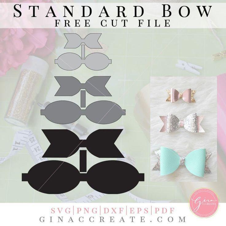 Standard Bow Diy Hair Bows Bow Template Diy Hair
