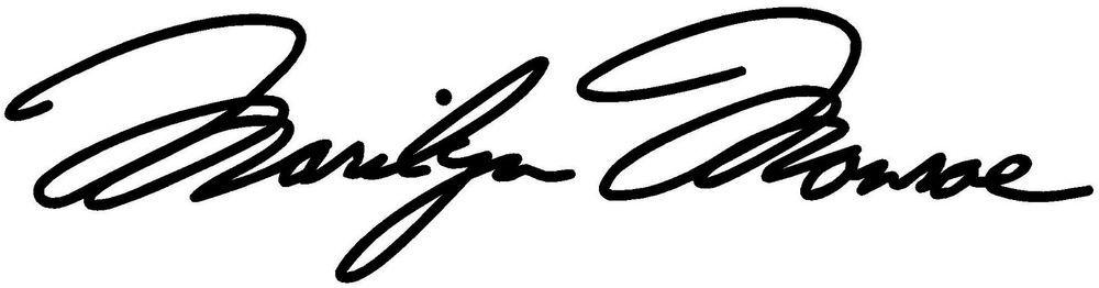 Citaten Van Marilyn Monroe : Marilyn monroe signature vinyl decal sticker autograph car