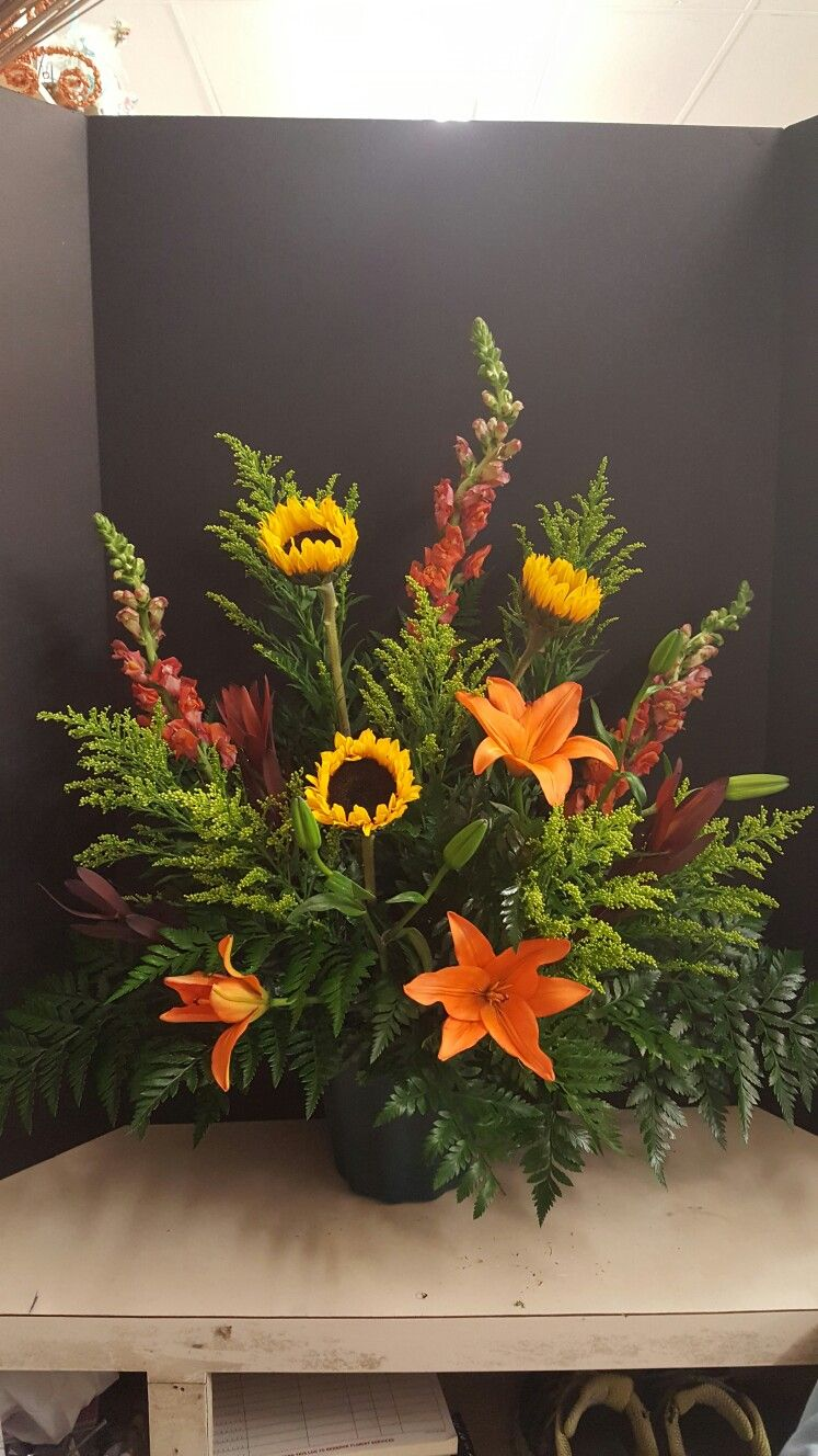 Manly Wildflower Funeral Arrangement Flowers I Have Done
