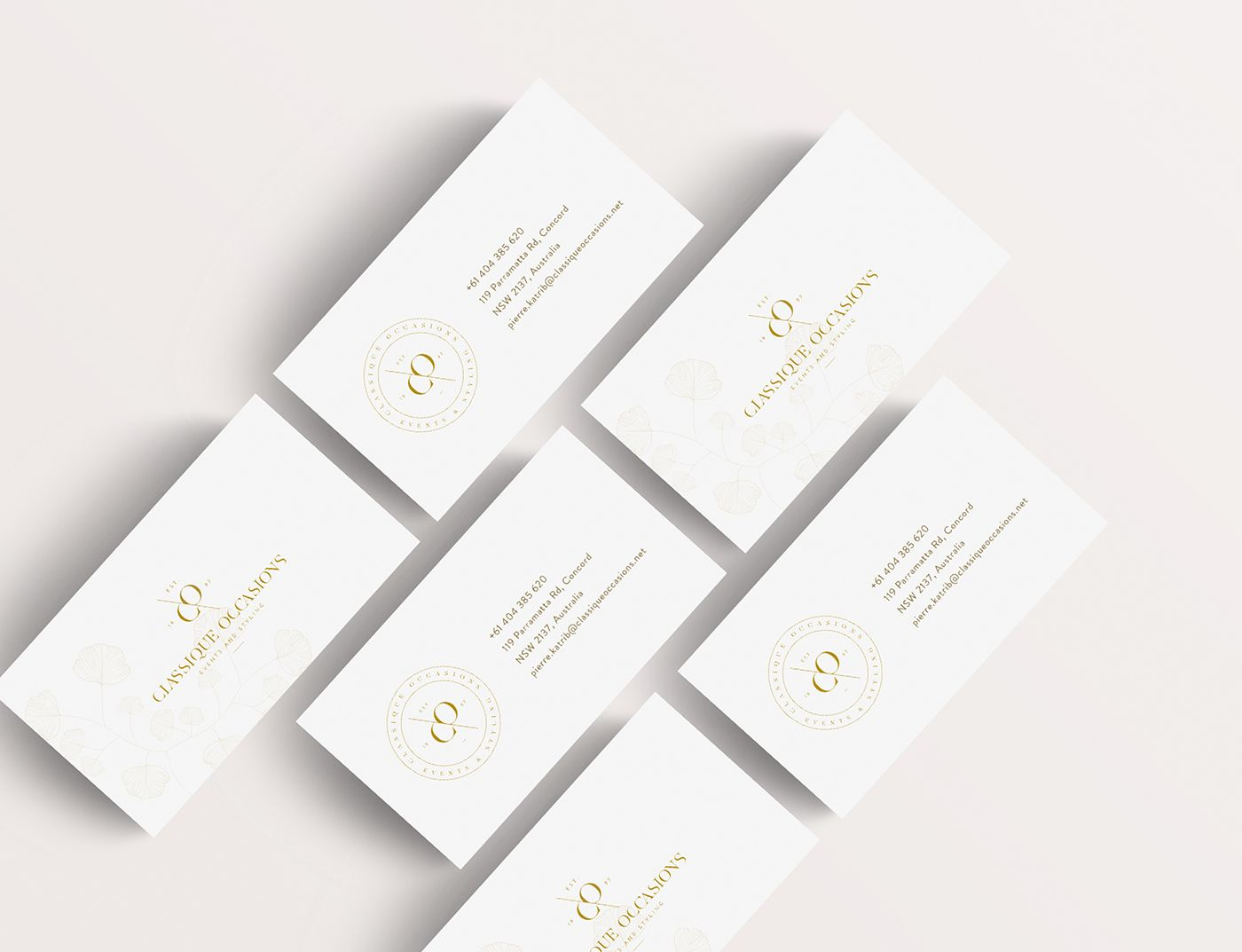 Classique Occasions on Behance | business card | Pinterest ...