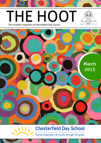 The Hoot is the monthly magazine of Chesterfield Day School featuring student cover art