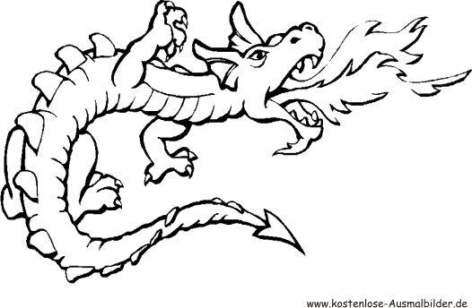 Ausmalbild Drache Drachenzeichnungen Drachen Ausmalbilder Ausmalen