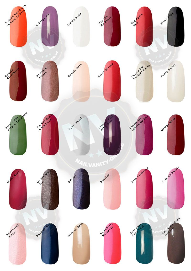 Opi Gel Polish Colors Swatches Opi Gel Nail Colors Swatches Nail Arts Nail Art Media Overview Opi Gel Nails Opi Gel Polish Gel Polish Colors