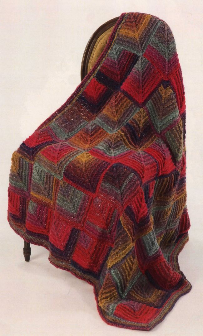 mitered square afghan out of noro kureyon or silk garden trying to figure out what - Laine Lang Mille Colori Baby