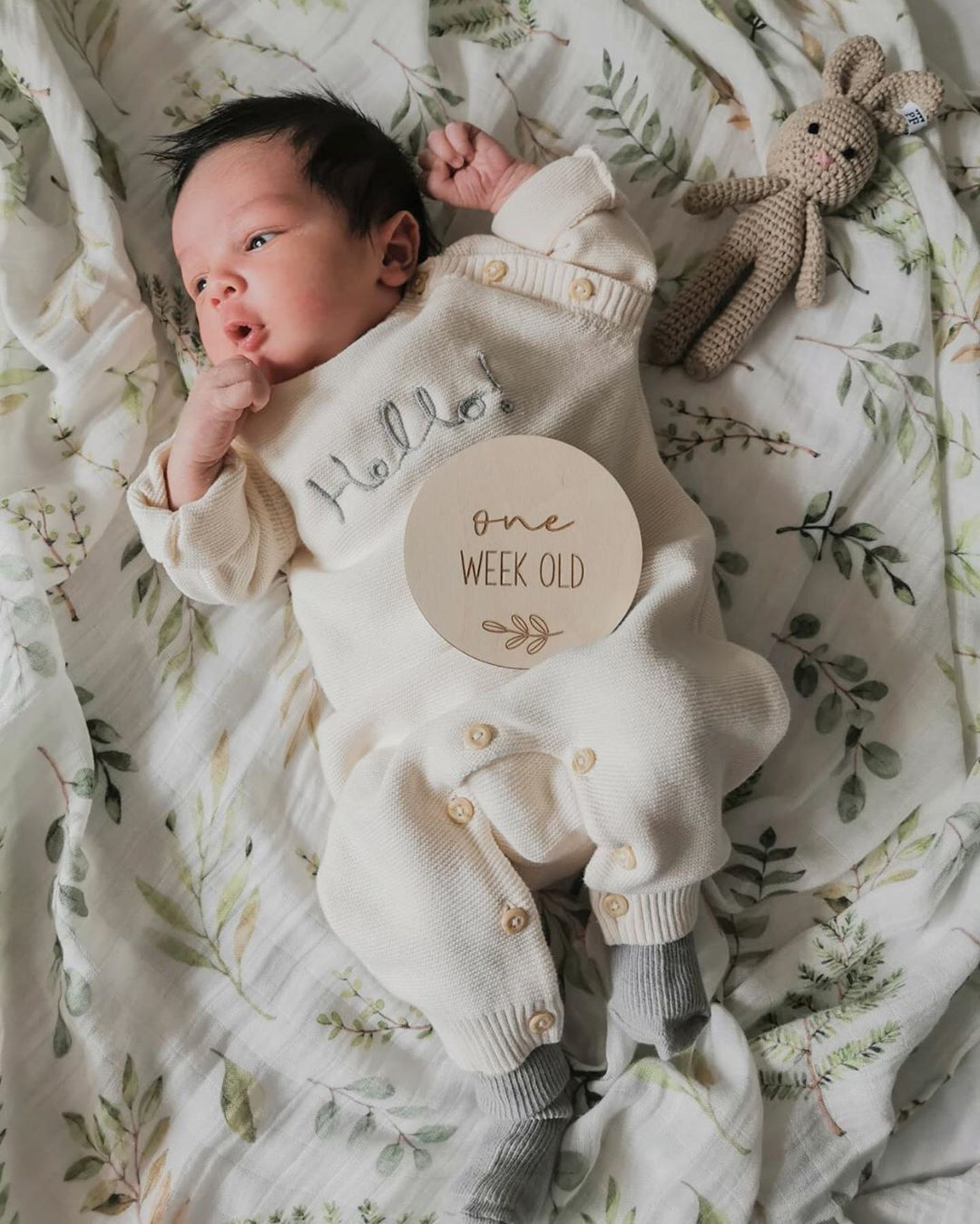 "♥ Petite Fashion | Vitri ♥ on Instagram: ""This little munchkin has filled our life over a week now 👼🏻🥰 ♥ ♥ ♥ ♥ ♥ ♥ ♥  #newborn #rainbowbaby #aprilbaby2020 #helloworld #newbornbaby…"""