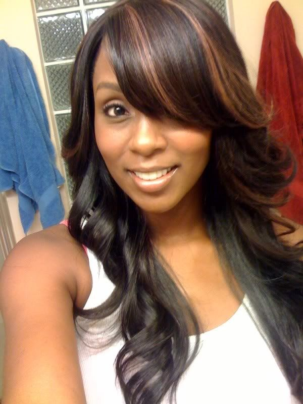 Pretty Full Sew In W A Swoop Bang Hairstyles Pinterest Weave