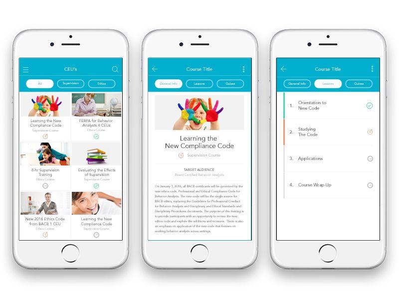 E Learning App Ii Mobile Ui Examples App App Design Mobile App Ui