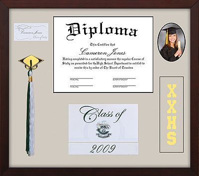 High School Graduation Picture Frame Cards | Shadow Box Memory Frame ...