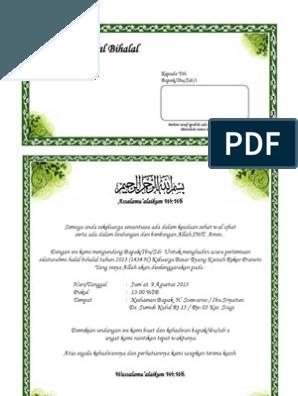 Contoh Surat Undangan Syukuran Pernikahan Microsoft Word