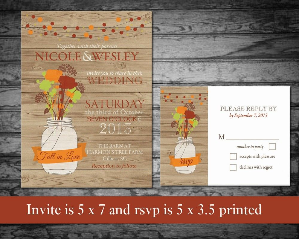 Diy Autumn Wedding Invitations: Diy Fall Wedding Invitation Template