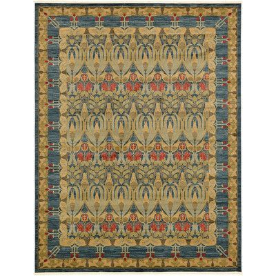 Unique Loom Heritage Navy Blue Area Rug Rug Size: