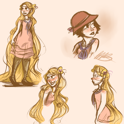 The Art of Tangled • whats-myage:   Really random sketch dump that I...