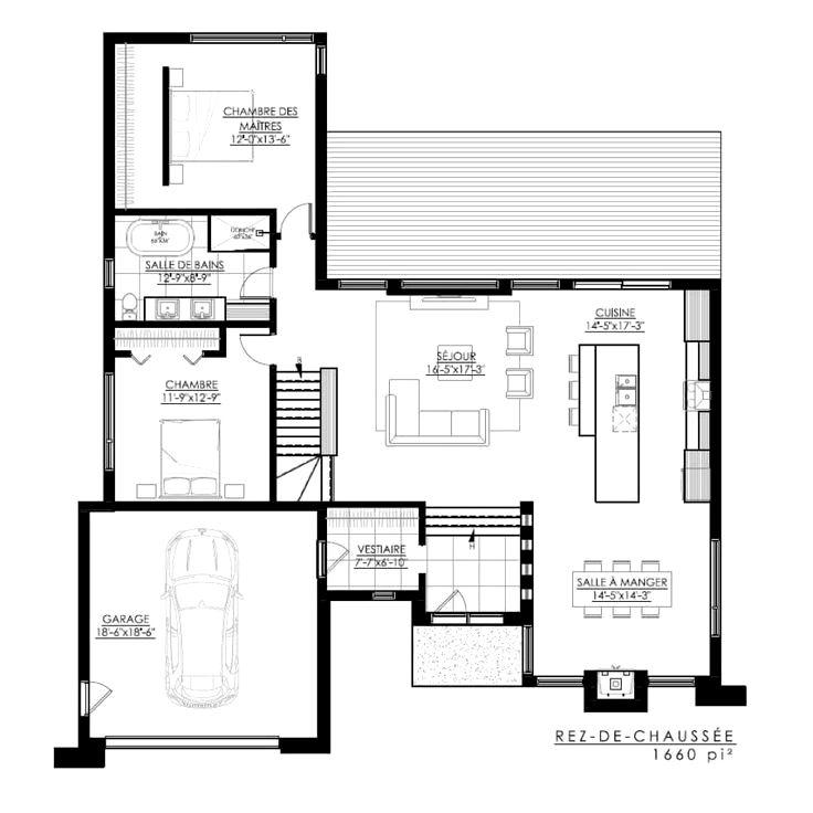 Plans De Maison Moderne Ideas En 2020 Plan Maison Plan Maison 2 Chambres Plan Maison Moderne