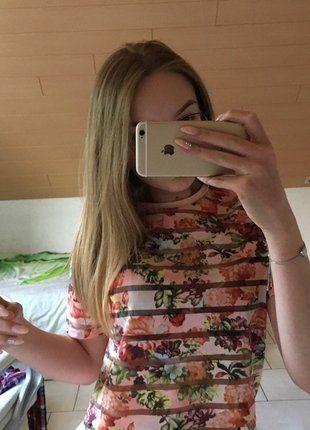 Kaufe meinen Artikel bei #Kleiderkreisel http://www.kleiderkreisel.de/damenmode/t-shirts/149404245-sommer-t-shirt-rose-blumchen-32-atmosphere