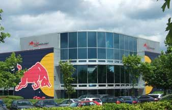 Ridge has a long history with this headquarters building from is conversion for the Stewart Grand Prix Team to its current users Red Bull Formula 1.