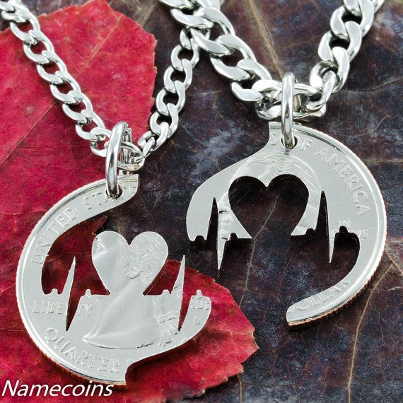 ANAZOZ Couples Stainless Steel Jewelry Pendant Necklace Chains Matching Set Rings Heart Pattern