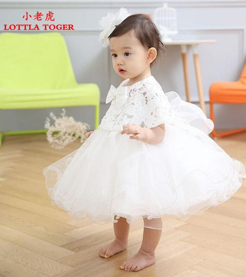 aabd464c99ee 2PCS Baby Girl Pageant Wedding Dresses Infant Princess Little Girls ...