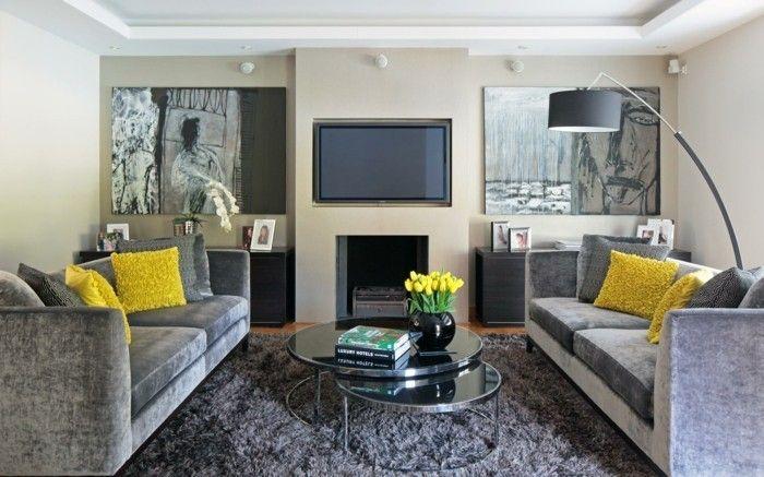 Farbideen Wohnzimmer Grau für Stil, Stabilität und Harmonie Pinterest