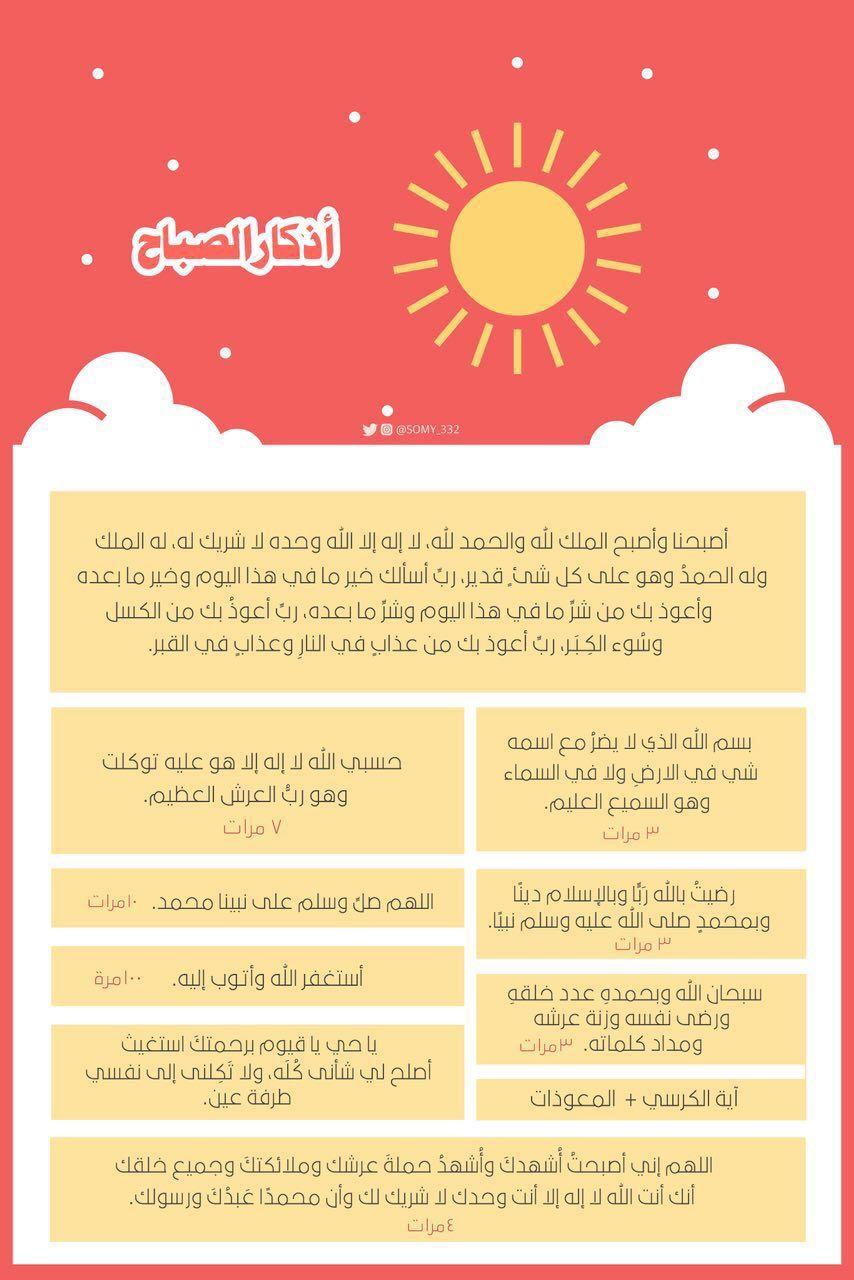 أذكار الصباح Islamic Inspirational Quotes Islamic Quotes Wallpaper Islamic Quotes