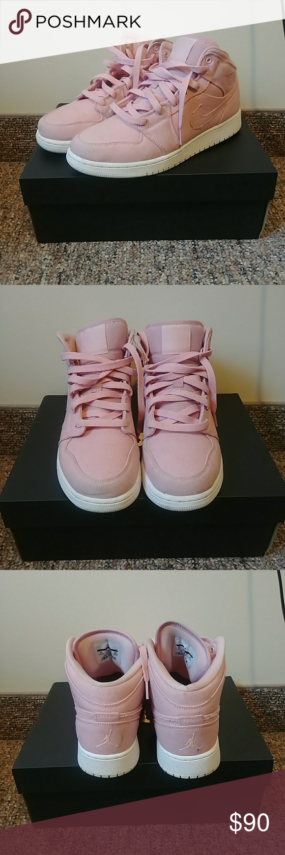 Air Jordan 1 Mid Easter Pack Pink Used Condition 9 10 Size 7Y Women s Jordan  Shoes Athletic Shoes 87ff538b7