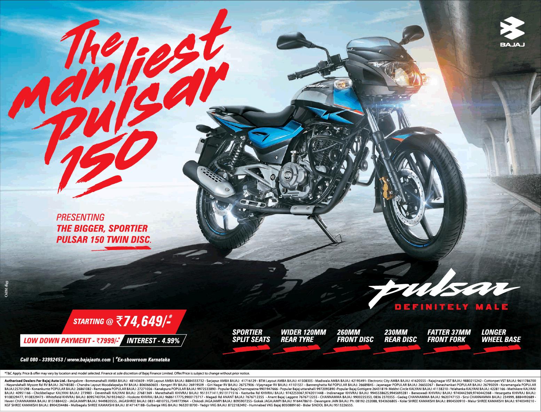 Bajaj The Manliest Pulsar 150 Bike Ad Motos