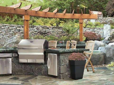 Roofing Shelter For Outdoor Kitchen  Google Search  Lanai Magnificent Outdoor Kitchen Charcoal Grill Inspiration