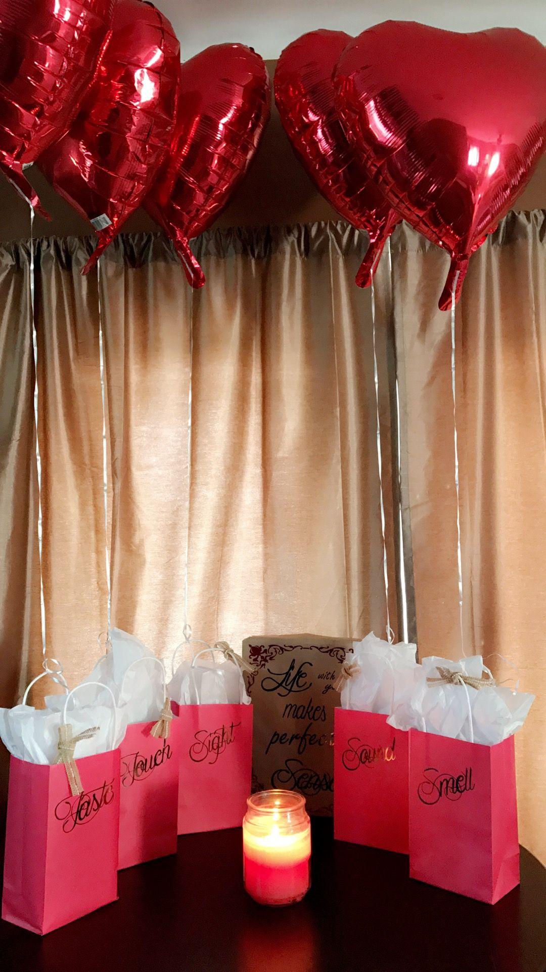 5 Senses Gift Decals Https Www Etsy Com Shop Classycreationsmds Ref S2 Header Sh Anniversary Gifts Boyfriend Anniversary Gifts Valentines Day Gifts For Him