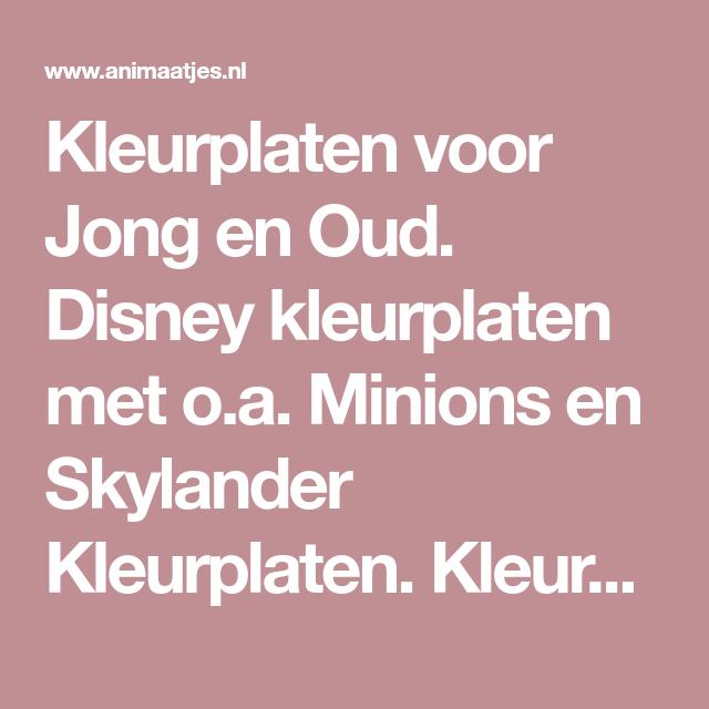 Kleurplaten Skylanders Uitprinten.Kleurplaten Voor Jong En Oud Disney Kleurplaten Met O A