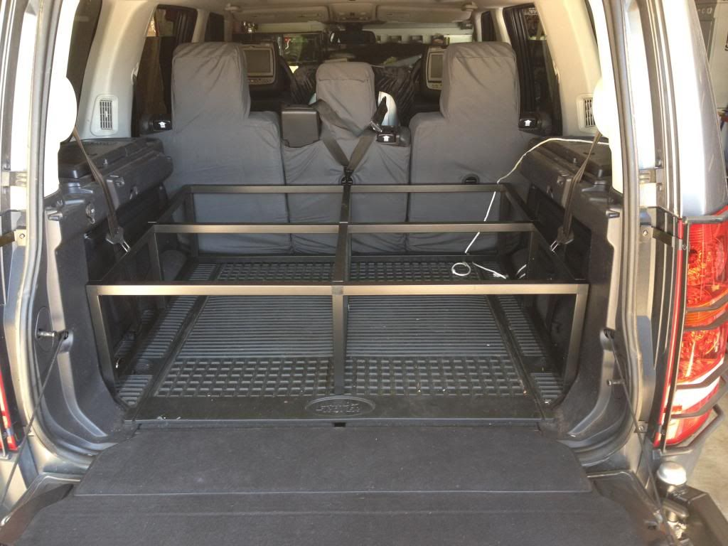 My lr3 lightweight storage platform build updated actual - Land rover discovery interior dimensions ...