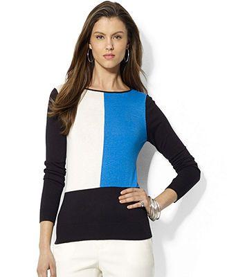 Lauren Ralph Lauren Long-Sleeve Colorblocked Sweater