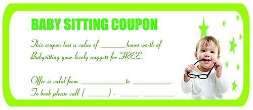 Babysitting coupon | Babysitting Coupon Templates | Pinterest ...