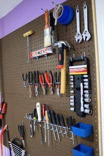 Tool Wall Peg Board Tools Backyard Garage