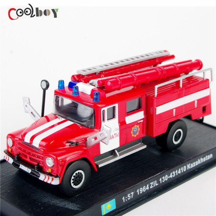 Modelli in Scala 1:57 Camion Dei Pompieri 1964 ZiL 130-431410 Kazakistan Automezzi Veicoli Collection