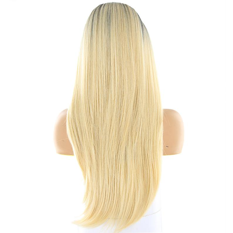 Blonde Wig Brown Wigblack Root Straight Long Hair Lace Etsy Long Straight Hair Blonde Wig Ombre Lace Front
