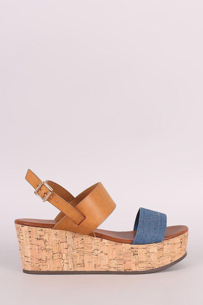 51279ea52c23 Bamboo Color Block Open Toe Cork Platform Wedge – Style Lavish ...