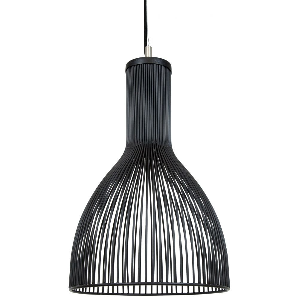 Small Teques Wire Pendant Light, Black | Wire pendant, Pendant ...