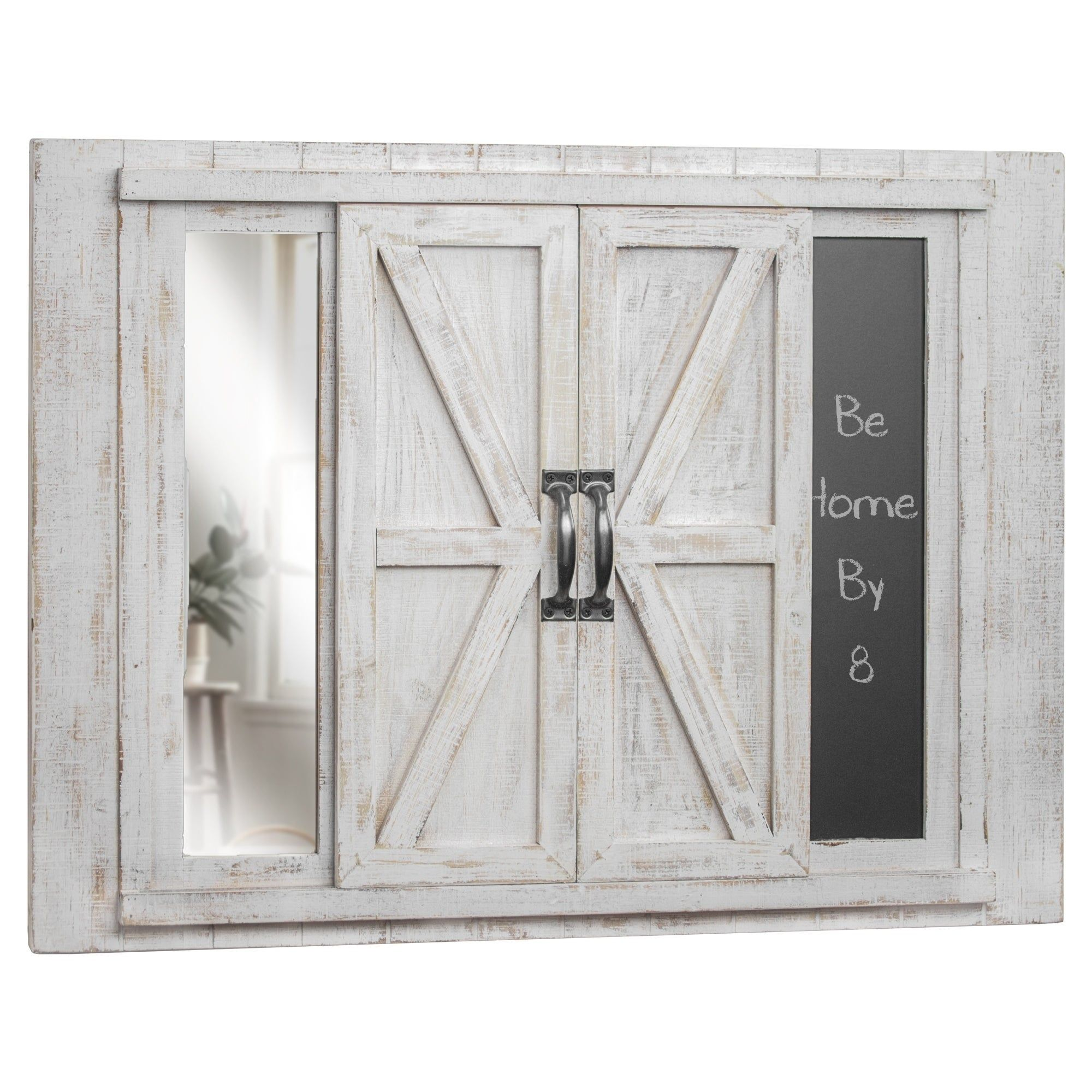 Photo Collage Picture Frame Chalkboard With Mirror White Mdf