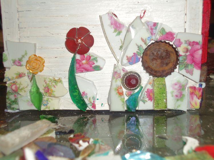 Jane Nassano Fine Art Birdhouse Flower Garden in Progress.jpg