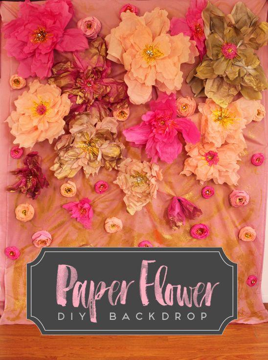 Paper flower diy backdrop diy backdrop flower diy and backdrops mightylinksfo Images
