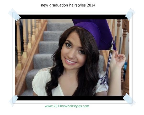 graduation hairstyles - (Google Search) looks like a great way to wear a cap without looking weird lol