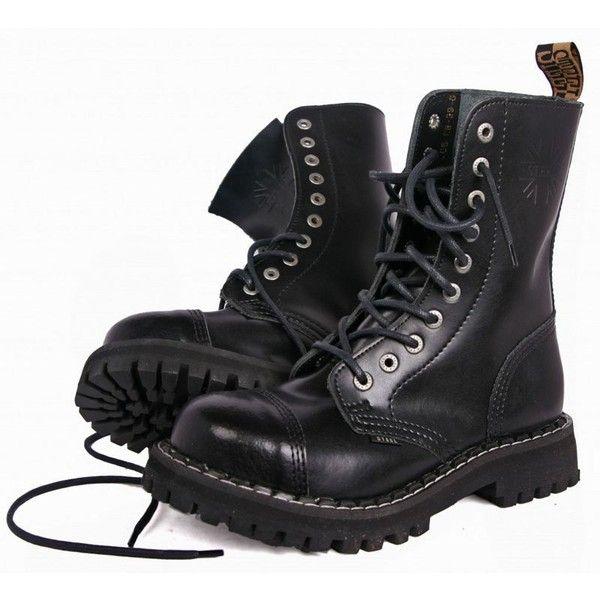 Glany Steel Czarne 10 Dziurek 105 106 0 Steel Toe Boots Women Steel Boots Steel Toe Boots