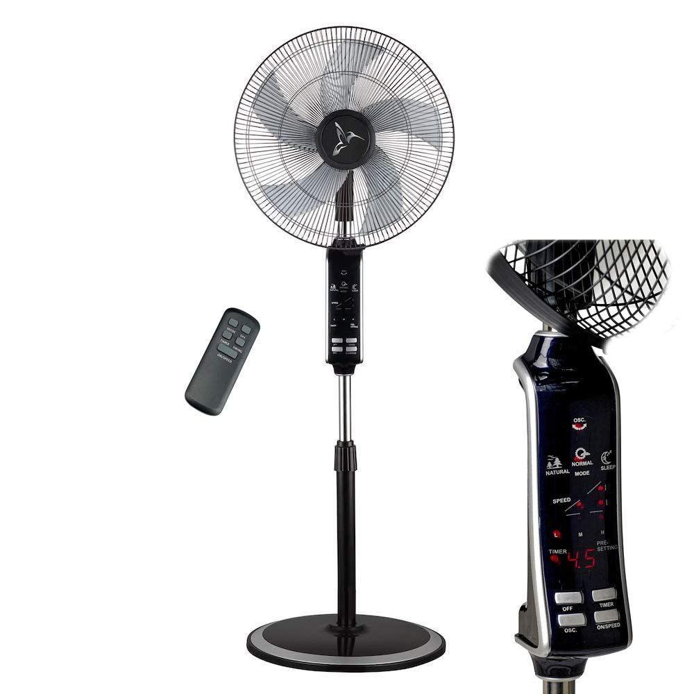 Deco Breeze Oscillating Floor Fan With Remote Powerful And Quiet Digital 10 Hour Timer 3 Digital Timer Pedestal Fan Stuff To Buy