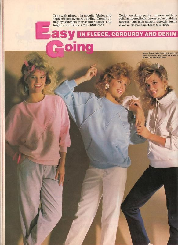 1980s Fashion For Young Girls