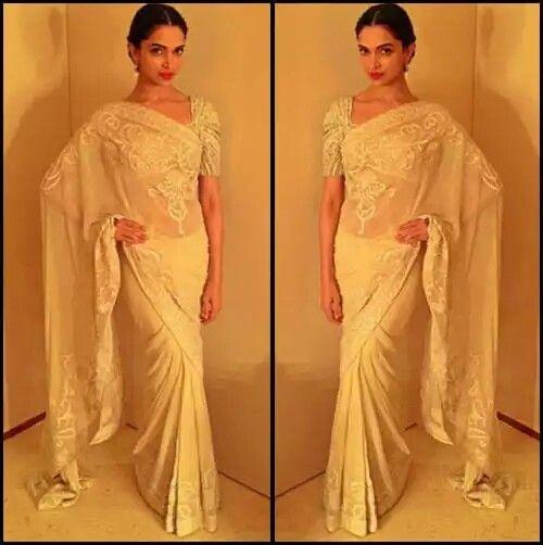 Deepika Padukone | Designer sarees wedding, Saree